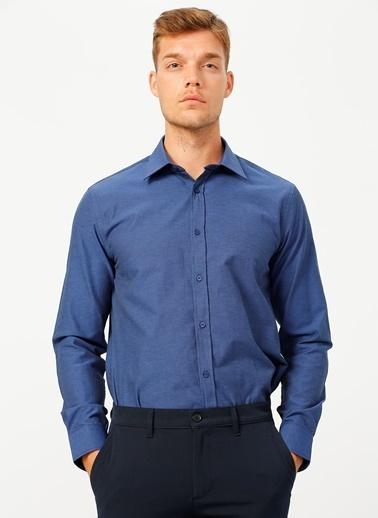 Fabrika Comfort Fabrika Comfort Gömlek Yaka Çizgili Lacivert Gömlek Lacivert